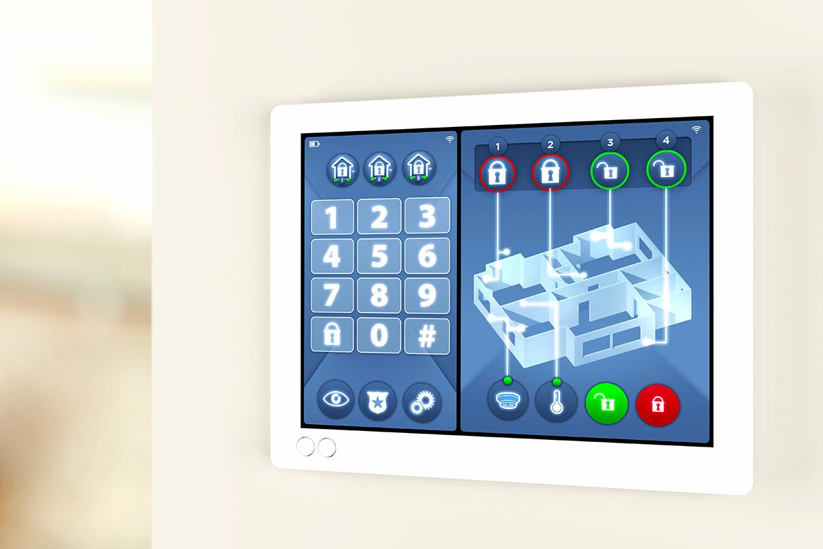 intrusion protection image of an alarm keypad